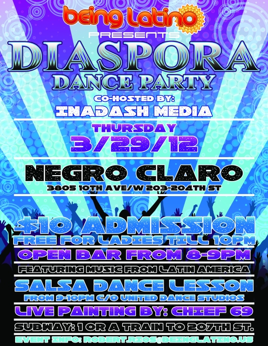 Dance the night away in the heights at the DIASPORA DANCE PARTY!